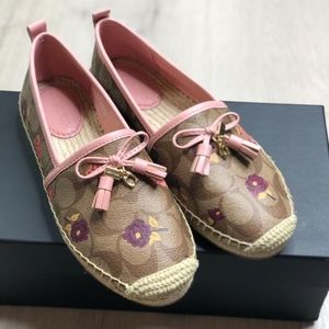 Coach Carson Signature Espadrille Shoes SZ 5.5